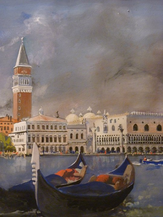 Across the Lagoon. View of Doge's Palace and St. Mark's Square